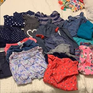 Lot of 12 m baby girl summer clothes